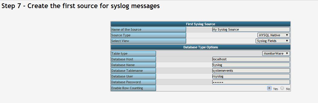 Como configurar LogAnalyzer com Rsyslog e Mysql